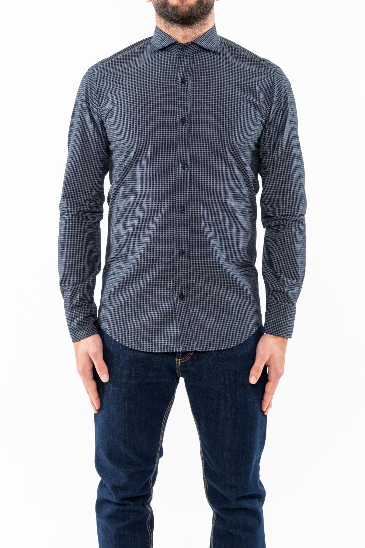 camicia,blu/bianco