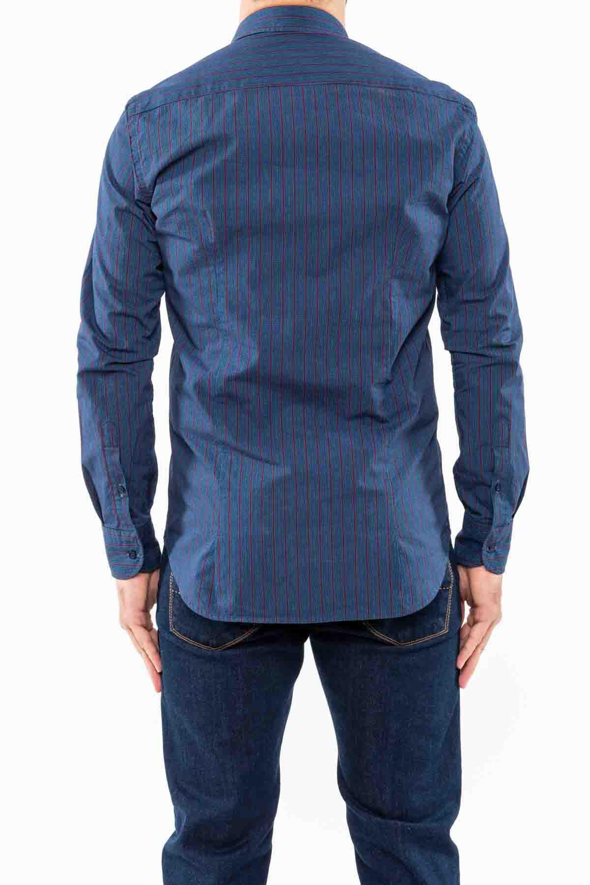 camicia,blu/bordeaux